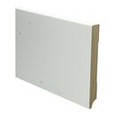 MDF Moderne plint 150x18 wit voorgelakt RAL 9010