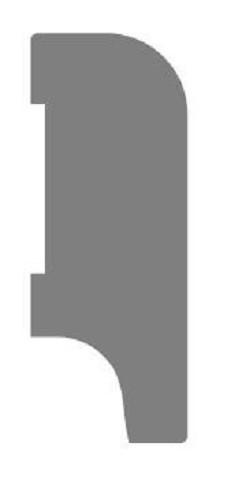 MDF Koloniale plint 60x12 wit voorgelakt RAL 9010