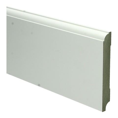MDF Eigentijdse plint 120x15 wit voorgel.