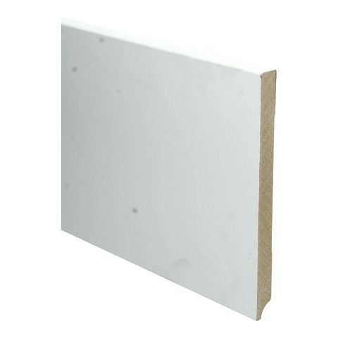 MDF Moderne plint 220x18 wit voorgelakt RAL 9010