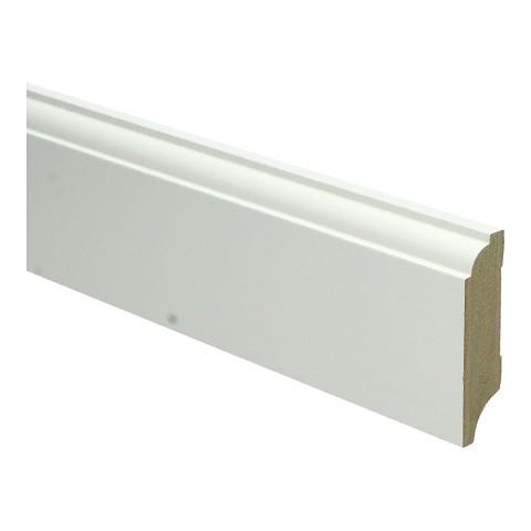 MDF Eigentijdse plint 70x18 wit voorgel. RAL 9010