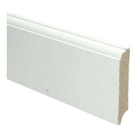 MDF Eigentijdse plint 90x18 wit voorgel.