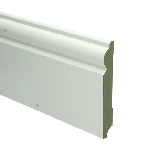 MDF Barok plint 120x15 wit voorgel. RAL 9010