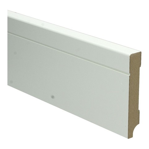 MDF Tijdloze plint 90x15 wit voorgelakt RAL 9010