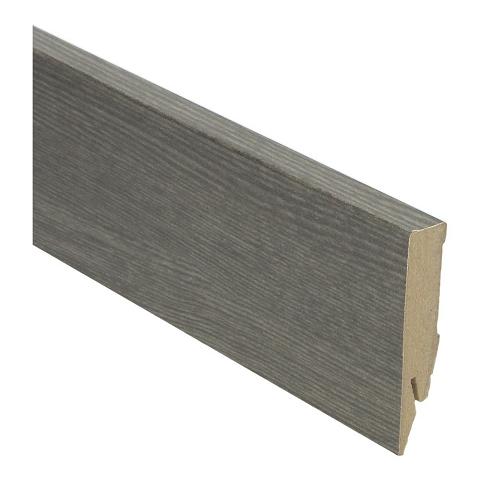 Hoge plint 70x14 titanium eik