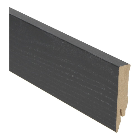 Hoge plint 70x14 zwart