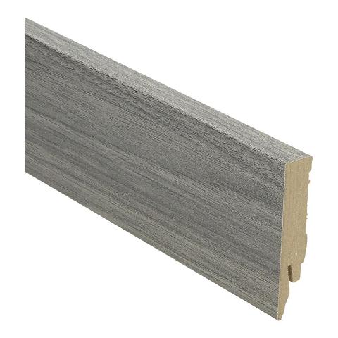 Hoge plint 70x14 grijze teak