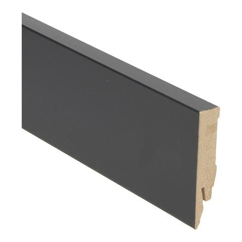 Hoge plint 70x14 zwart hoogglans