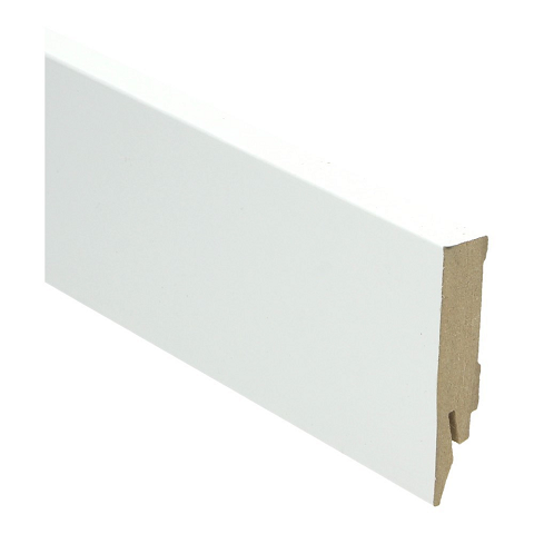 Hoge plint 70x14 hoogglans wit