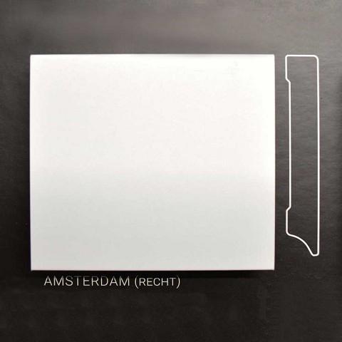 Plint Amsterdam wit gelakt 70x15mm per m1
