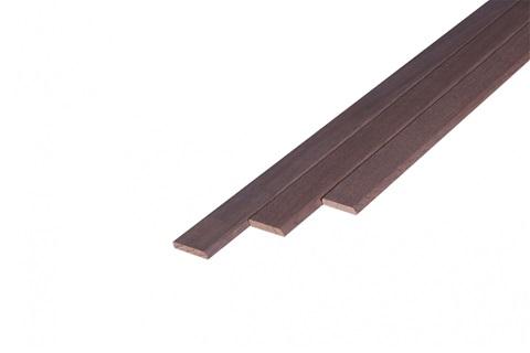 Massief Eiken Deklijst 5x28mm Gerookt Wit Geolied (L240 cm)