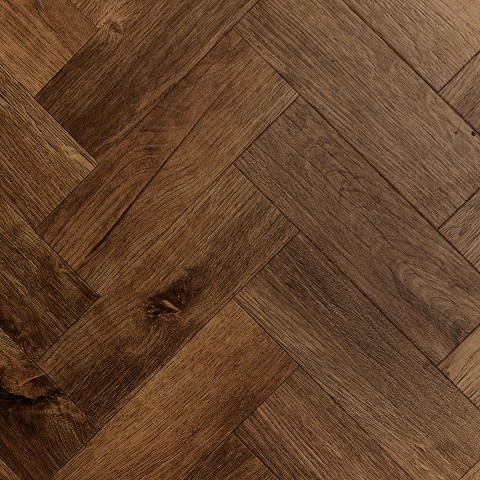Lijm PVC Sensation Visgraat Small Luxurious Black Walnut 0,55mm Toplaag