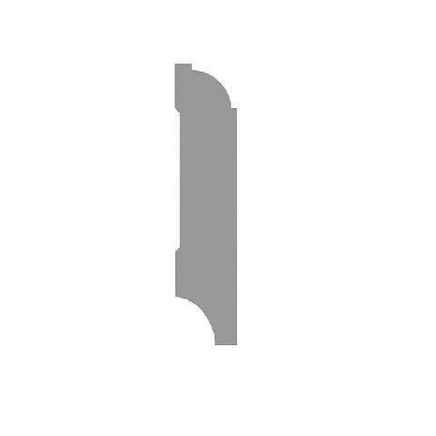 Plint kwartrondkraal wit gefolied 70x18x2400mm